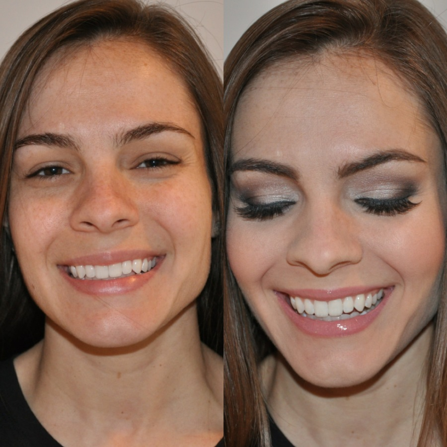 beauty blender before and after. mac select moisturecover concealer under eyes and darker shade cheek bones to contour (blended in with beauty blender) blender before after